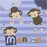"CoCaLo Baby Monkey Mania Canvas Art-12"" x 12"""