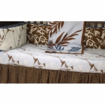 CoCaLo Natural Tranquil Botanical Print Fitted Sheet