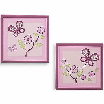 "CoCaLo Sugar Plum 2-Piece Canvas Art - 10"" x 10"""