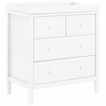 DaVinci Autumn 4 Drawer Dresser with Changing Tray in White