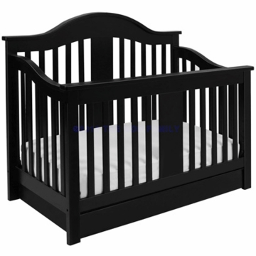 DaVinci Cameron 4 in 1 Convertible Crib with Bottom Drawer in Ebony