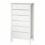 DaVinci Roxanne 6 Drawer Tall Dresser in White