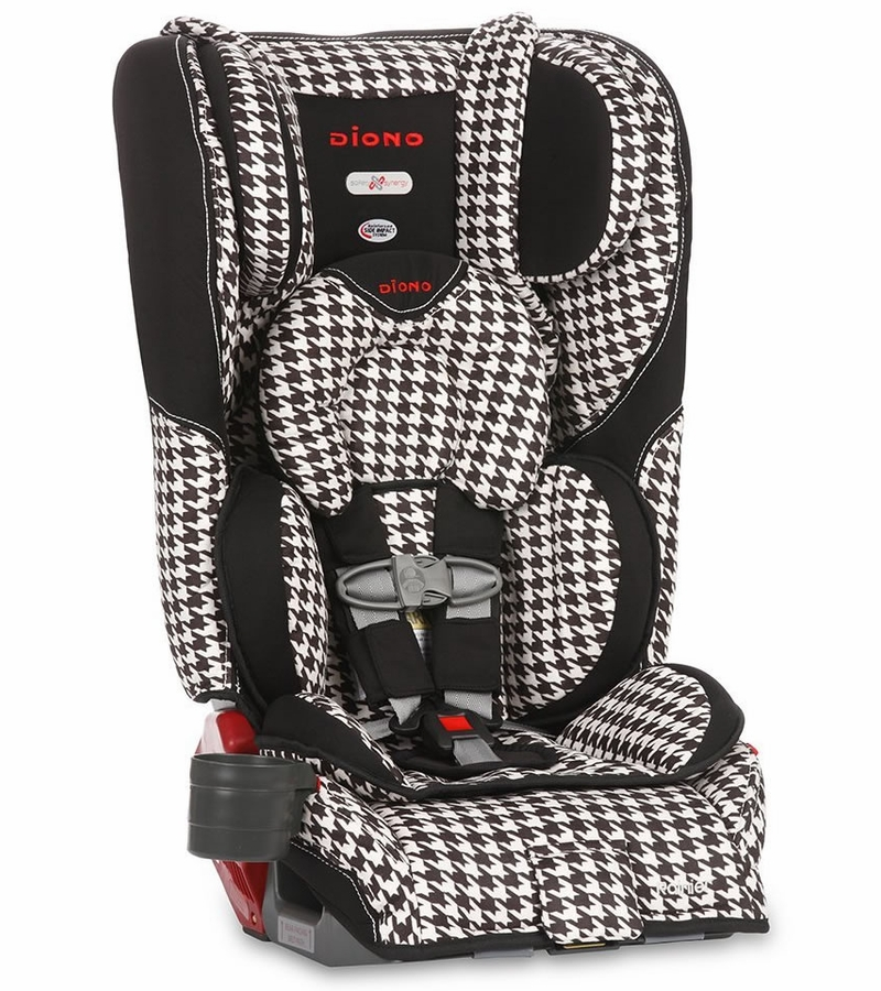 Black Houndstooth Rainier Convertible And Booster Car Seat