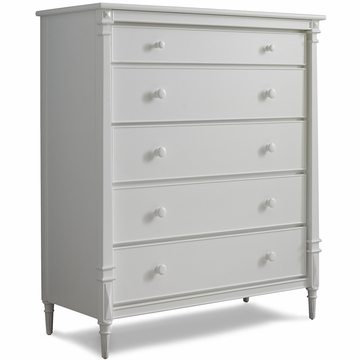 Dolce Babi Bella 5 Drawer Dresser in Snow White