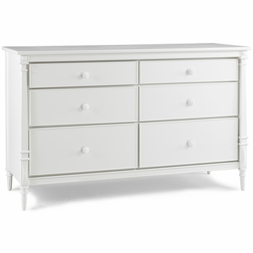 Dolce Babi Bella Double Dresser in Snow White