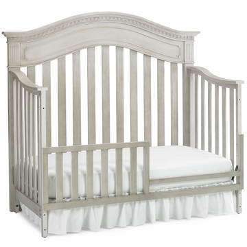 Dolce Babi Naples Convertible Bed Rail in Grey Satin