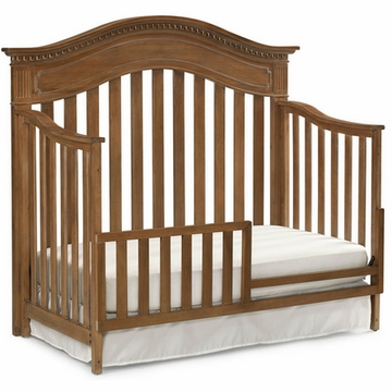 Dolce Babi Naples Convertible Bed Rail in Harvest Brown