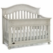 Dolce Babi Naples Convertible Crib in Grey Satin