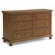 Dolce Babi Naples Double Dresser in Harvest Brown