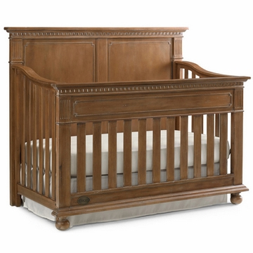 Dolce Babi Naples Full Panel Convertible Crib in Harvest Brown
