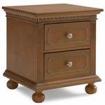 Dolce Babi Naples Nightstand in Harvest Brown