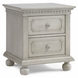 Dolce Babi Nightstand in Grey Satin