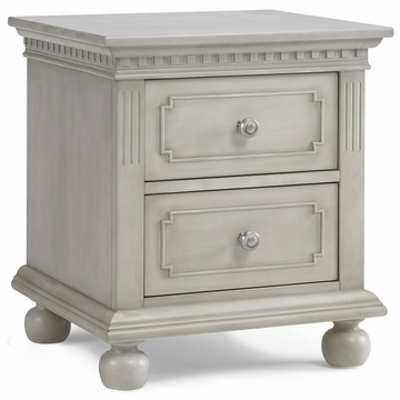 Dolce Babi Naples Nightstand in Grey Satin