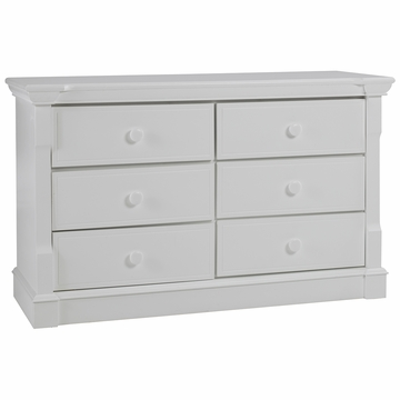 Dolce Babi Roma 5 Drawer Dresser in Snow White