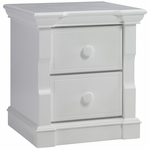 Dolce Babi Roma Nightstand in Snow White