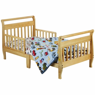 Dream On Me Classic Sleigh Toddler Bed in Natural
