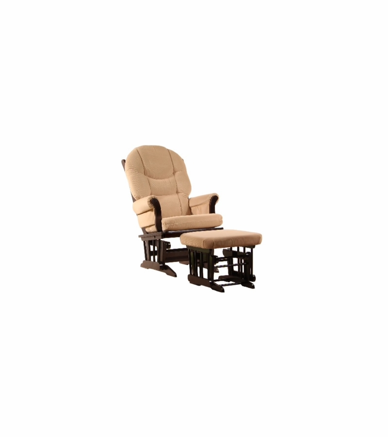 Dutailier Ultramotion Wood Glider And Ottoman Espresso