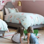 DwellStudio Butterfly Robin's Egg Twin Duvet Set