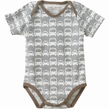 DwellStudio Cars Grey Short Sleeve Bodysuit 6-12 Mo.