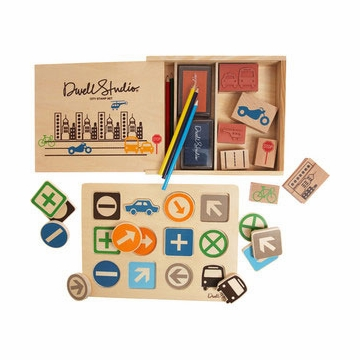 DwellStudio City Stamp/Signs Puzzle Set