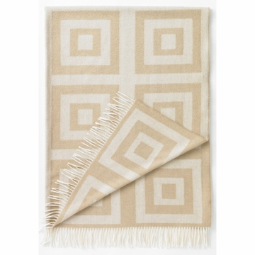 DwellStudio Concentric Squares Throw in Wheat