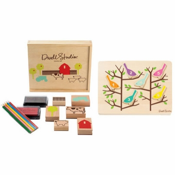 DwellStudio Farm Stamp/Counting Birds Puzzle Set