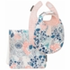 DwellStudio Meadow Powder Blue Bibs & Burp Set