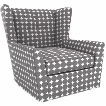 DwellStudio Myles Glider in Dotscape Charcoal