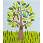 "DwellStudio Owl in Tree Wall Art 32"" x 28"""
