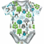 DwellStudio Owls Sky Short Sleeve Bodysuit 3-6 Months
