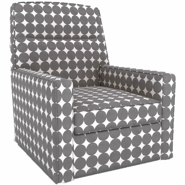 DwellStudio Oxford Glider in Dotscape Charcoal