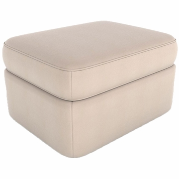 DwellStudio Rounded Ottoman in Dorosuede Arctic