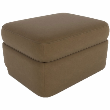 DwellStudio Rounded Ottoman in Dorosuede Cappuccino