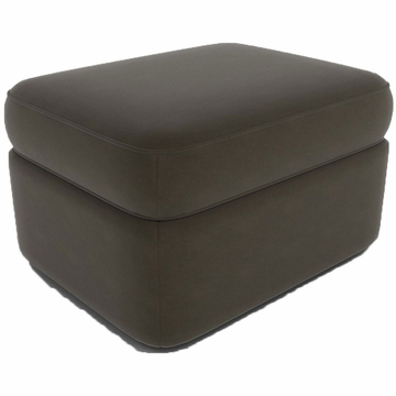 DwellStudio Rounded Ottoman in Dorosuede Charcoal