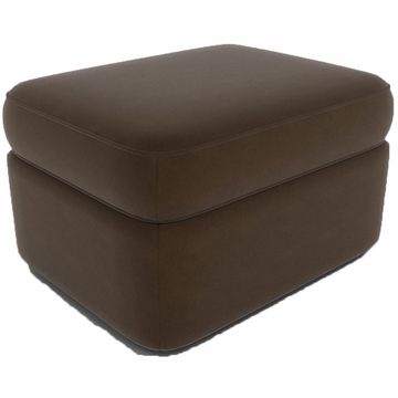 DwellStudio Rounded Ottoman in Dorosuede Sable