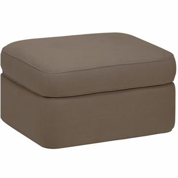 DwellStudio Rounded Ottoman in Linen Ash