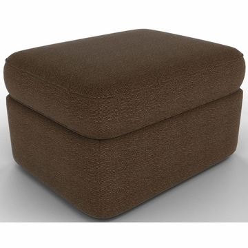 DwellStudio Rounded Ottoman in Terra Iron