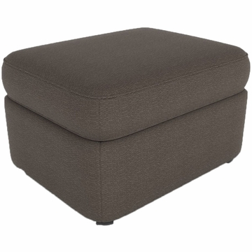 DwellStudio Rounded Ottoman in Terra Lead