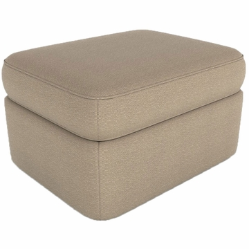 DwellStudio Rounded Ottoman in Terra Platinum