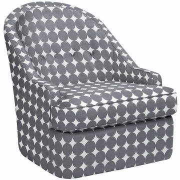 DwellStudio Savoy Glider in Dotscape Charcoal