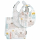 DwellStudio Skyline Light Blue Bibs/Burp Set