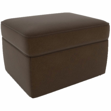 DwellStudio Standard Ottoman in Dorosuede Sable