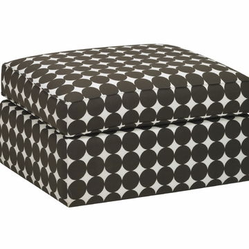 DwellStudio Standard Ottoman in Dotscape Major Brown