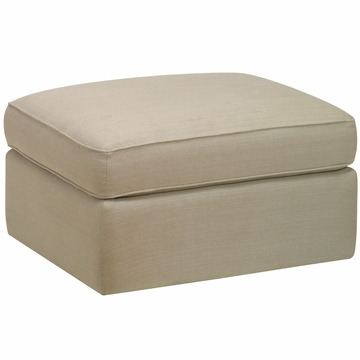 DwellStudio Standard Ottoman in Linen Natural