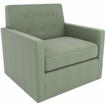 DwellStudio Thompson Glider in Dorosuede Seafoam