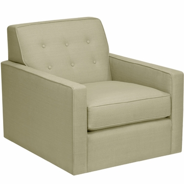 DwellStudio Thompson Glider in Linen Celadon