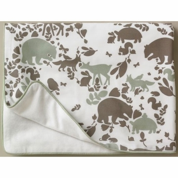 DwellStudio Woodland Tumble Stroller Blanket - Velour