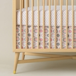 DwellStudio Zinnia Rose Percale Crib Skirt