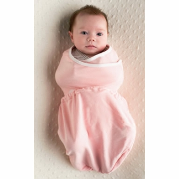 Ergobaby Sleep Tight Swaddler - Pink + Natural - M/L