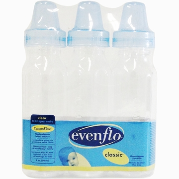 Evenflo Classic 8 oz Clear Bottles- 3 Pack
